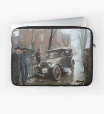 Auto Wreck in Washington DC, 1921. Colorized Laptop Sleeve
