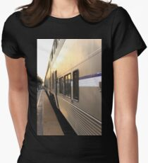 Ventura Train Station Womens Fitted T-Shirt