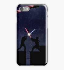 Lightsaber fight iPhone Case/Skin