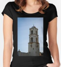Ojai Post Office Tower Women's Fitted Scoop T-Shirt