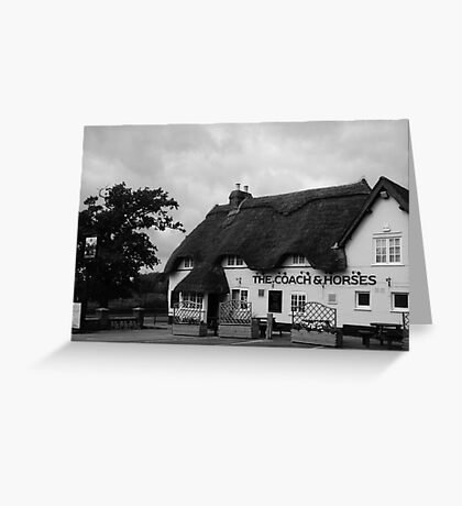 The Coach & Horses Greeting Card