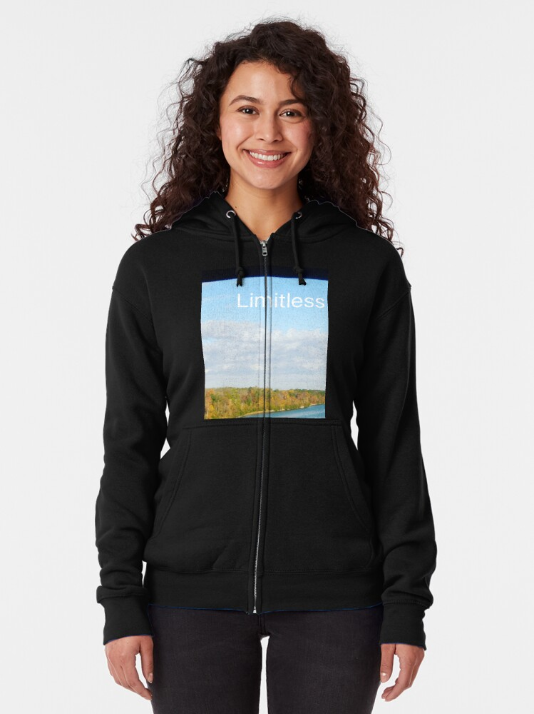 Alternate view of Limitless  Zipped Hoodie