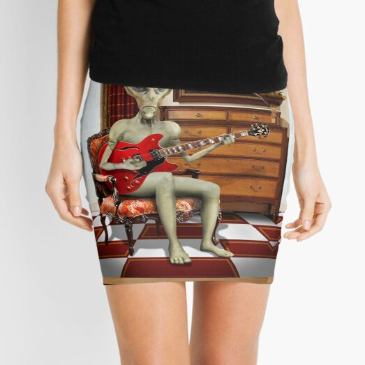 Alien Vacation - We Roll With Jazz Mini Skirt