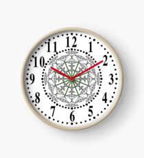 Harmonious Two Tone Flowers Clock