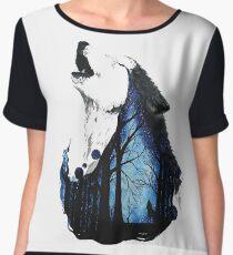 Wolf Women's Chiffon Top