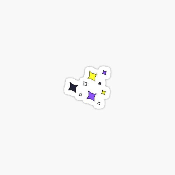 Tiny nonbinary pride glitter stars Sticker