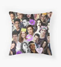 Teen Wolf Collage Throw Pillow