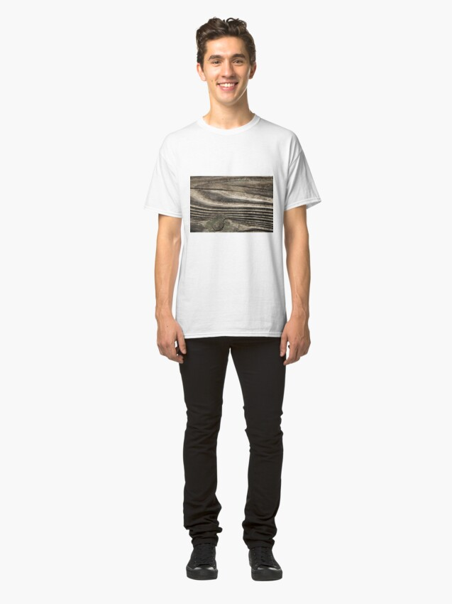 Alternate view of waves of wood Classic T-Shirt