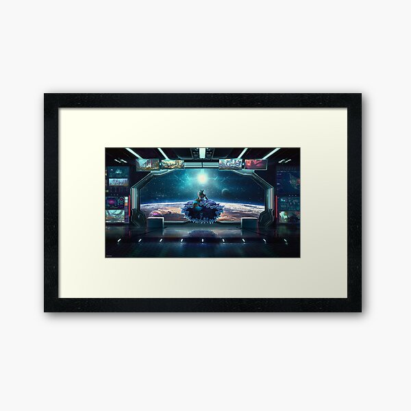 View from the stars Framed Art Print