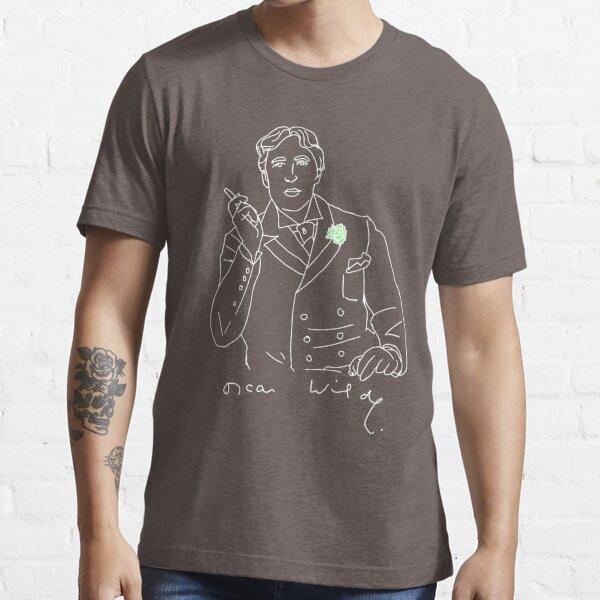 Oscar Wilde stencil (white) Essential T-Shirt