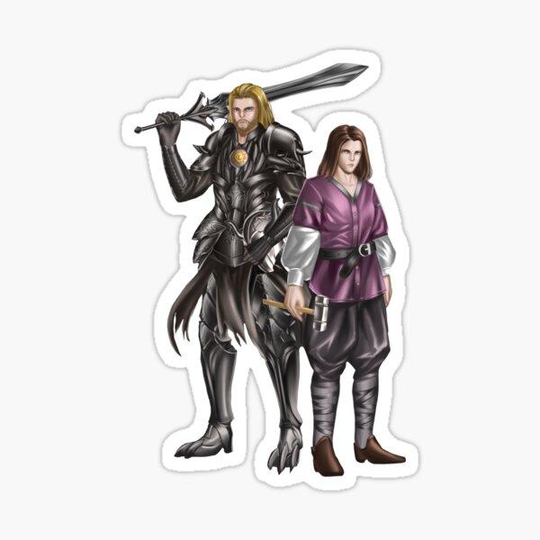 The Miscreant: Ashavan and Tysion no background Sticker
