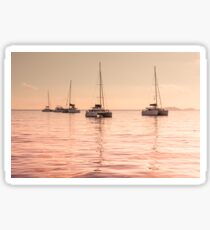 Recreational Yachts at the Indian Ocean Sticker