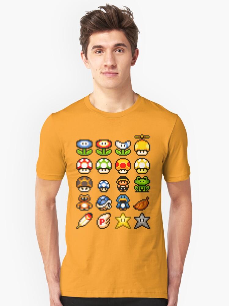 Powerups Unisex T-Shirt Front