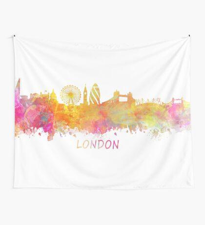 London Skyline pastel Wall Tapestry