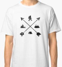 Bigfoot Camping Tribal Arrows Emblem Classic T-Shirt