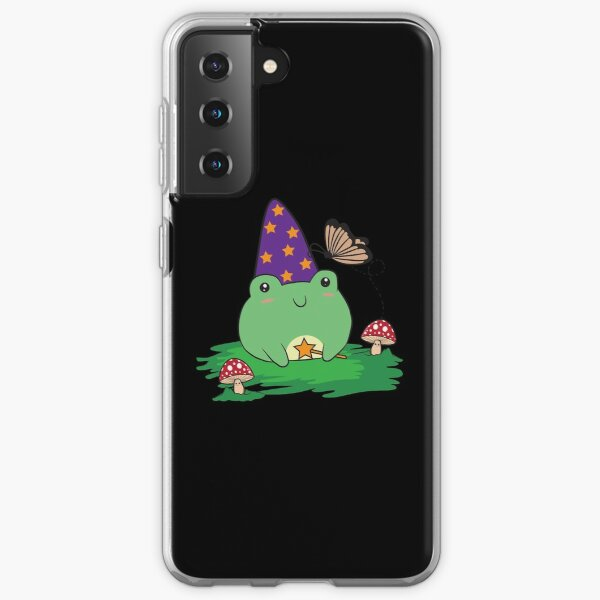 Cottagecore Aesthetic Cute Kawaii Frog Wizard Hat   Samsung Galaxy Soft Case