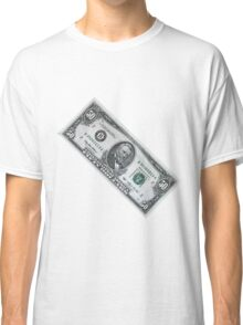 fifty dollar banknote on white background Classic T-Shirt