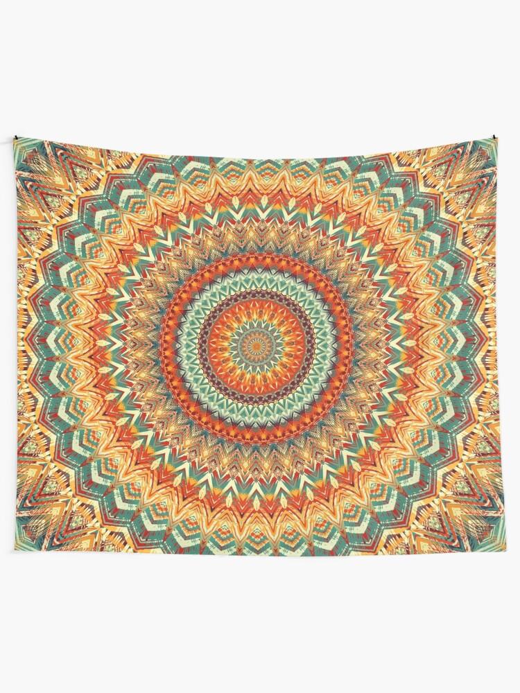 Alternate view of Mandala 159 Tapestry