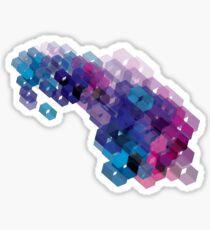 3D-blocks Sticker