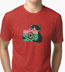 Photographer Cat Tri-blend T-Shirt