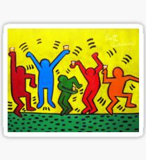 Keith Haring Beer Parody Sticker