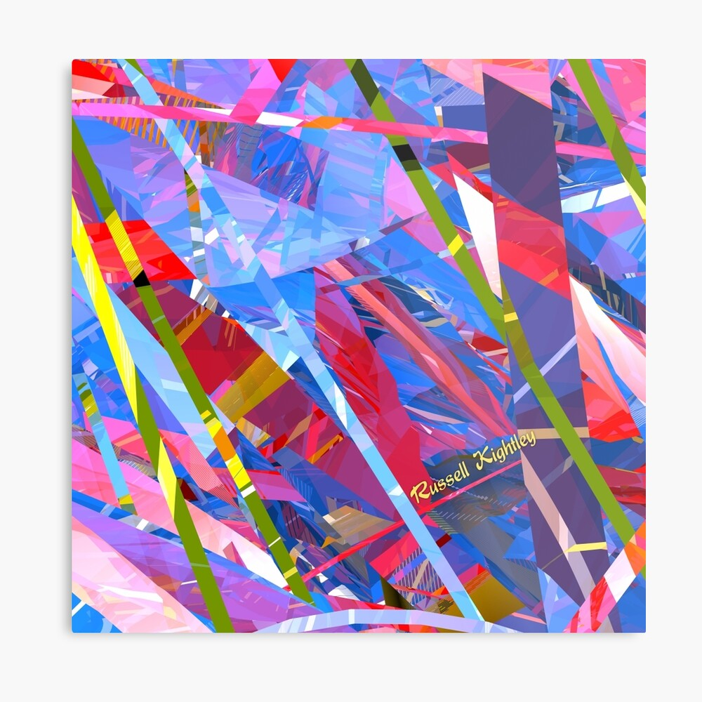 Fractured Glass Metal Print
