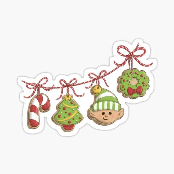 Christmas Cookie Garland Sticker
