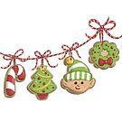 Christmas Cookie Garland by Krista Heij-Barber