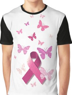 Breast Cancer Pink Awareness Ribbon Graphic T-Shirt