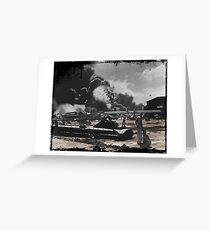 Air Base After Pearl Harbor WWII Greeting Card