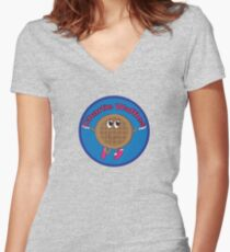 Charlie Waffles! Women's Fitted V-Neck T-Shirt