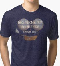 Mr Tambourine Man - Bob Dylan Music Lyrics - Take me On A Trip  Tri-blend T-Shirt