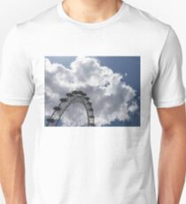 Color Coordinated Skyward View - the London Eye Against Dramatic Sky T-Shirt