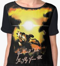 You Can't Take The Sky From Me Women's Chiffon Top