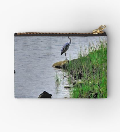Heron on the shore Studio Pouch