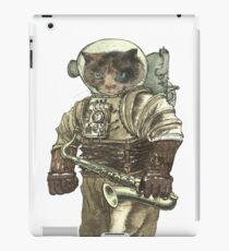 Space Cat with Saxophone iPad Case/Skin