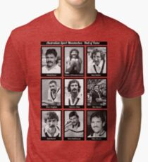 Aussie Moustache Hall of Fame by Decibel Clothing Tri-blend T-Shirt
