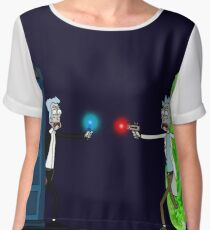 RICKTIONS IN TIME AND SPACE Chiffon Top
