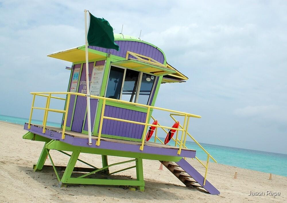 South Beach Life Guard Shack by Jason Pepe