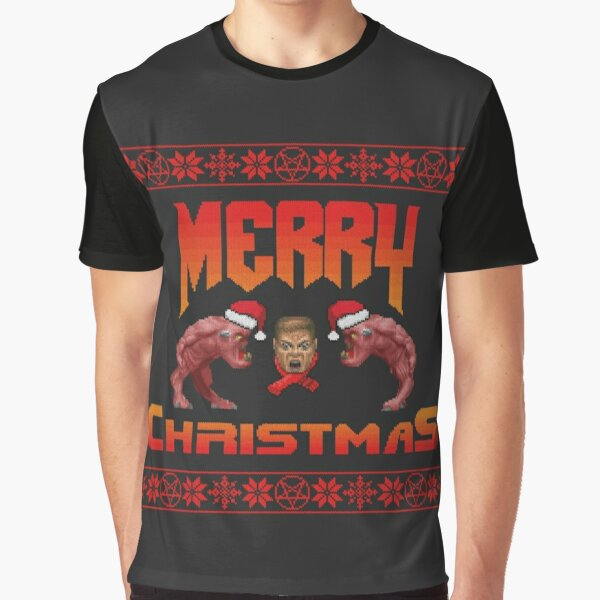 Christmas sweater for Doomguy Graphic T-Shirt