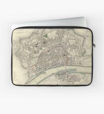 Vintage Map of Frankfurt Germany (1837)  Laptop Sleeve
