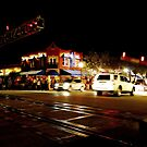 Rail Road Crossing at Night by Jason Pepe