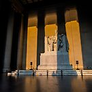 Lincoln Memorial at sunrise  by Sven Brogren