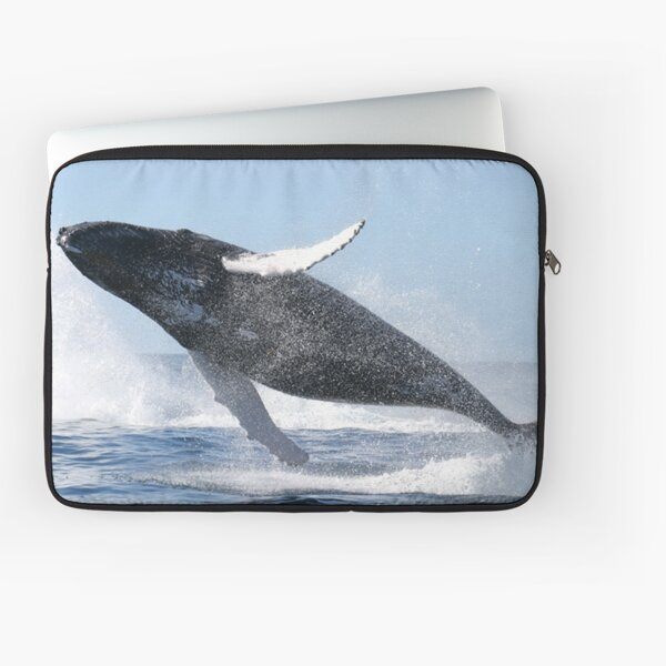 Humpback Whale Jumping High Laptop Sleeve