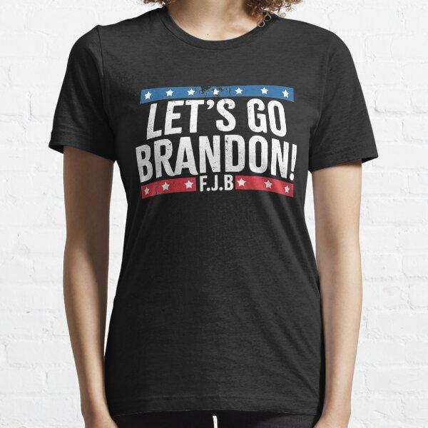 Lets Go Brandon Us Flag Colors Essential T-Shirt