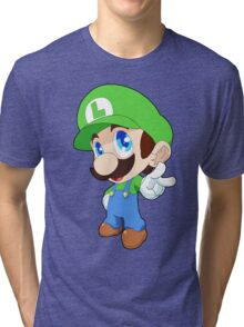 Super Smash Bros. Luigi Tri-blend T-Shirt