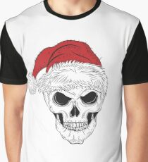 Scary Christmas Skull Graphic T-Shirt