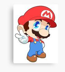 Super Smash Bros. Mario Canvas Print