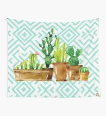 Cactus watercolor Wall Tapestry