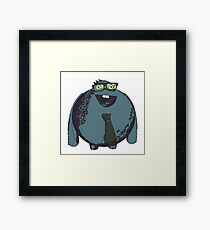 Business character Framed Print